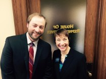 Rep. Moffie Funk (Helena -D) and Derf Johnson from the Montana Environmental Research Center