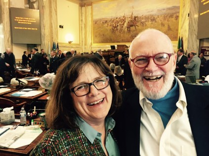 Rep. Nancy Wilson (Missoula- D) and her husband Missoula City Councilman Alex Taft