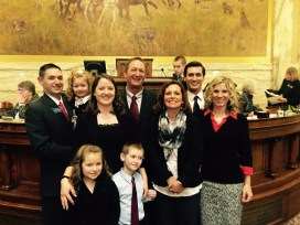 Speaker Austin Knudsen (Culbertson- R) and family