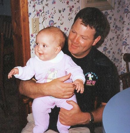 Kevin with baby Emma
