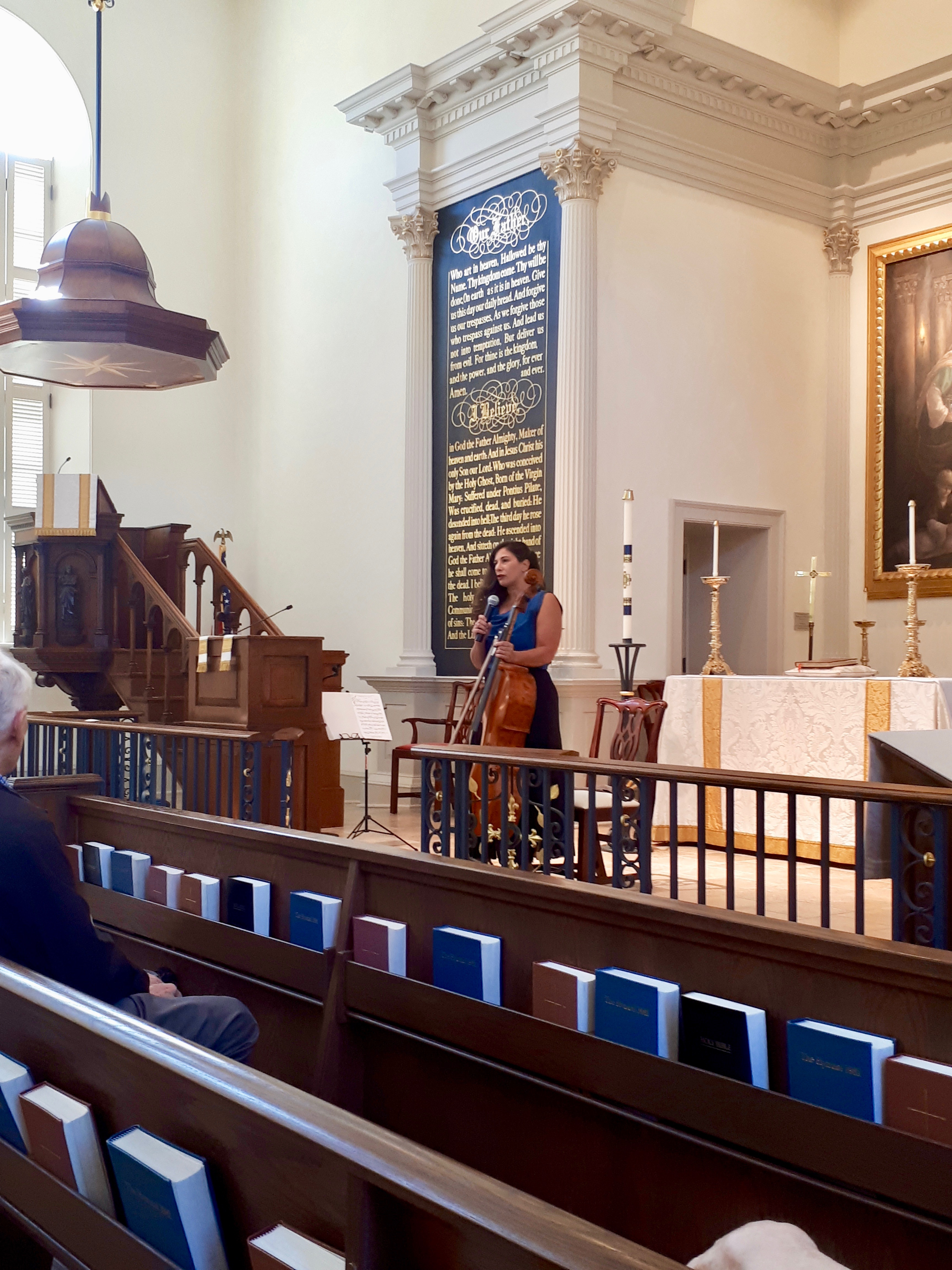 talking to the audience in Charleston
