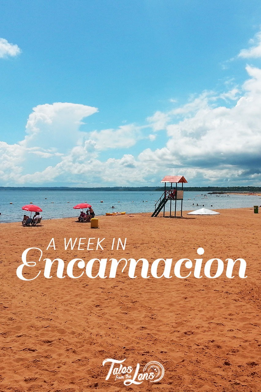 Pin-it - Encarnacion is the door to the Jesuits Ruins of Paraguay : Jesus and Trinidad. It also holds an incredible, fun and cheap Carnival and offer great beaches. Lesser explored it is a great cheap backpacker option. https://talesfromthelens.com/2017/06/03/encarnacion-paraguay/