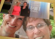 With my mum at NBS 2013 and in 2009