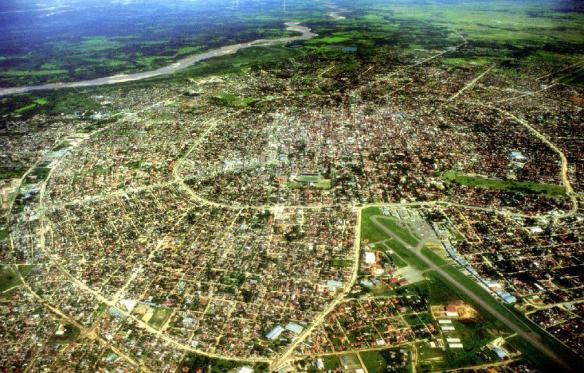 an aerial view of Santa Cruz, Bolivia