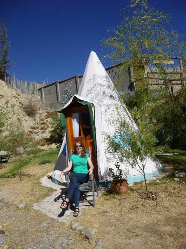 My teepee & me at Colibri Camping