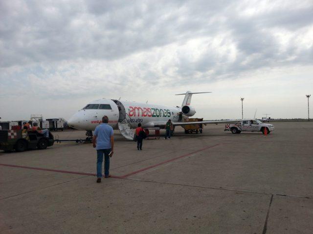 The plane to La Paz & Colibri Camping