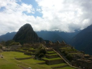 Getting close to the ruins at Machu Picchu