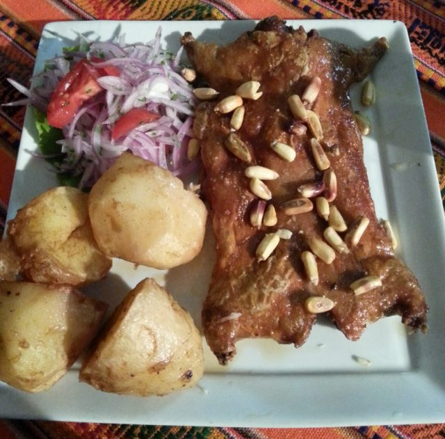 """Cuy"" Guinea Pig - one of the tasty delights on offer in Arequipa"
