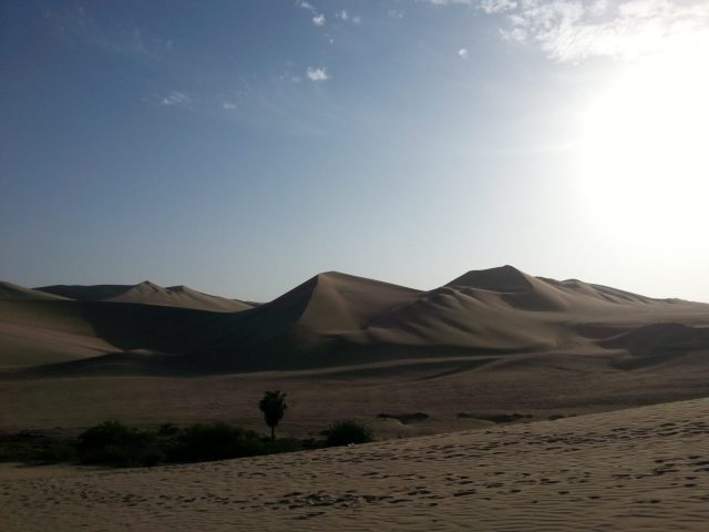 Huacachina - an oasis in the desert of Peru
