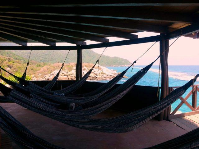 camping in hammocks at Tayrona