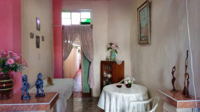 Inside our Casa in Cienfuegos - Backpacking Cuba on a Budget Cheap Travel in Cuba, travel cheaply in Cuba