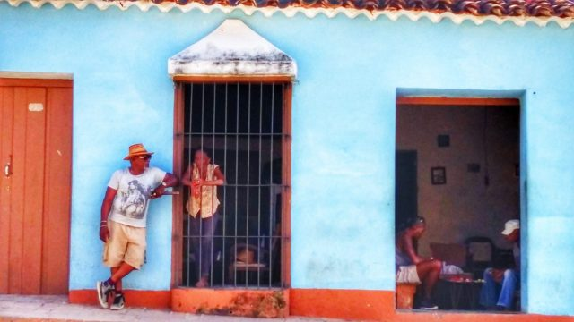 Cuban street scene - Backpacking Cuba on a Budget Cheap Travel in Cuba