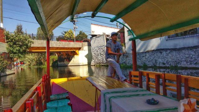 Boat driver at Xochilmilco
