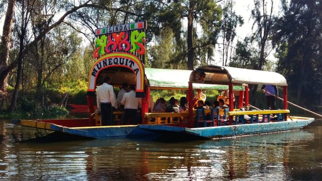 Xochimilco Boats with Mariachis in Mexico City