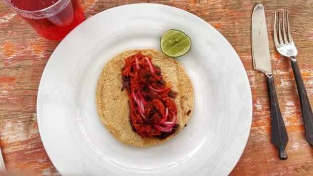 Cochinta Pibil Casa Jacaranda cooking class in Mexico City