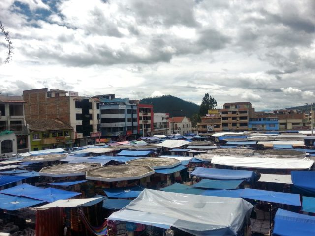 the market in Otavalo Market