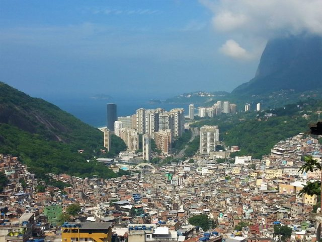 The view from the Rocinha Favela in Rio Favela Tour