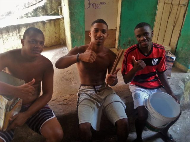 These guys put on quite a show for us in Rocinha! Favela Tour Rio