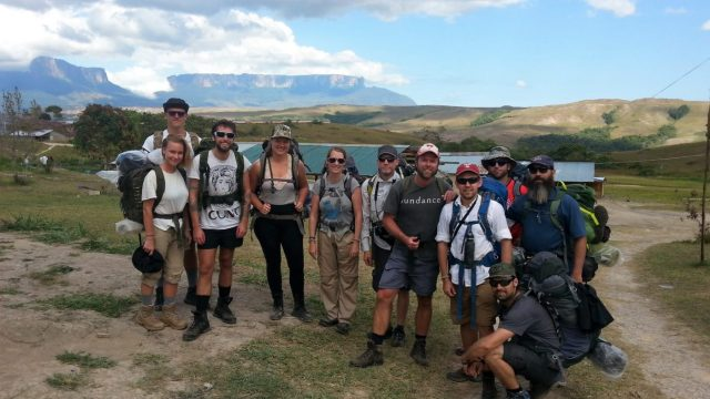Our motley crew of hikers, ready to conquer Roraima! Venezuela trek