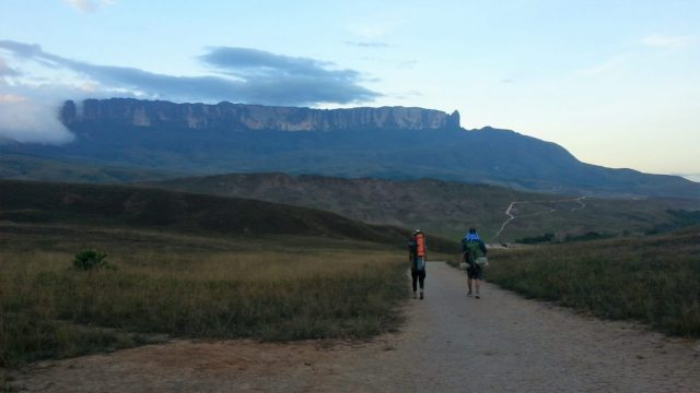 Setting out on the morning of Day 2 - trekking to Roraima in the Canaima National Park, Venezuela
