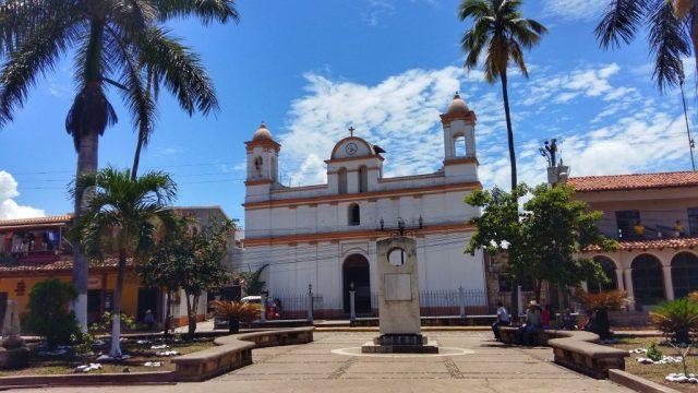 The Main Square in Copan Ruinas Honduras