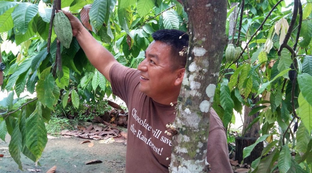 Taste Belize Food Tour - At Ixcacao Maya Chocolate Farm with owner Juan