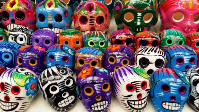 Traditional Mexican Painted Skulls - Backpacking Mexico Backpackers Guide