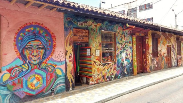 Cool graffiti Street Art in Bogota Awesome budget things to do in Bogota Colombia - what to do in Bogota for Backpackers