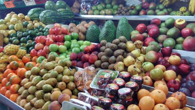 Lots of strange fruit in the market - part of the cooking class with 5 Bogota - what to in Bogota