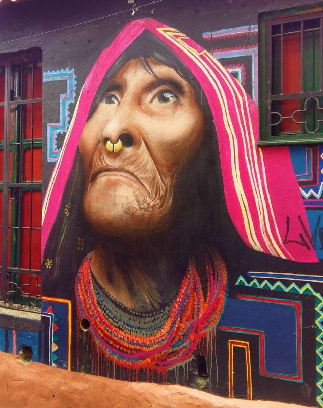 My favourte colourful street art in Bogota
