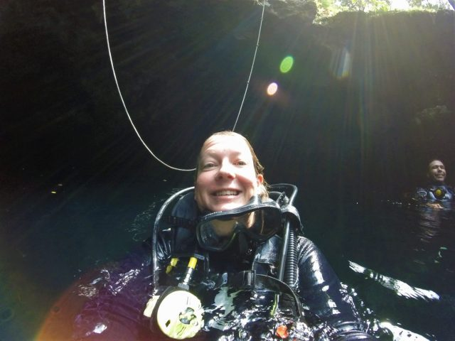 Cenote Diving in Tulum with Koox Diving. I'm tired but very happy