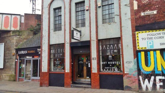 The Entrance to Art Hostel Leeds - The Best Hostel in Leeds