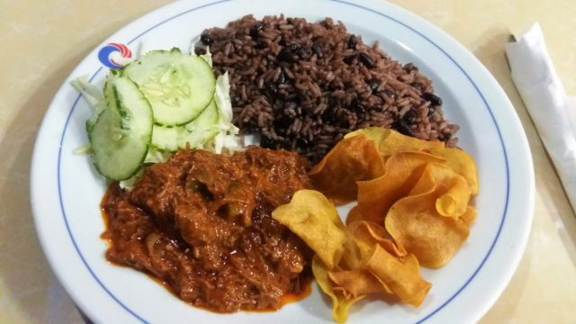 A Tasty Ropa Vieja Meal from Rompiendo Rutina was just $3.50 in Vinales