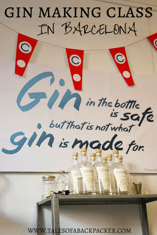 Corpen Distillers offer the chance for you to learn all about gin, and to make your own gin in their gin distillery class.  Corpen's 3-hour gin making class in Barcelona has even been named as one of the top Airbnb Experiences in the world, by Travel + Leisure magazine!