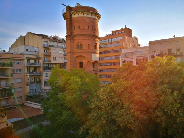The view from the back terrace at Fabrizzio's Petit - the Best Hostel in Barcelona