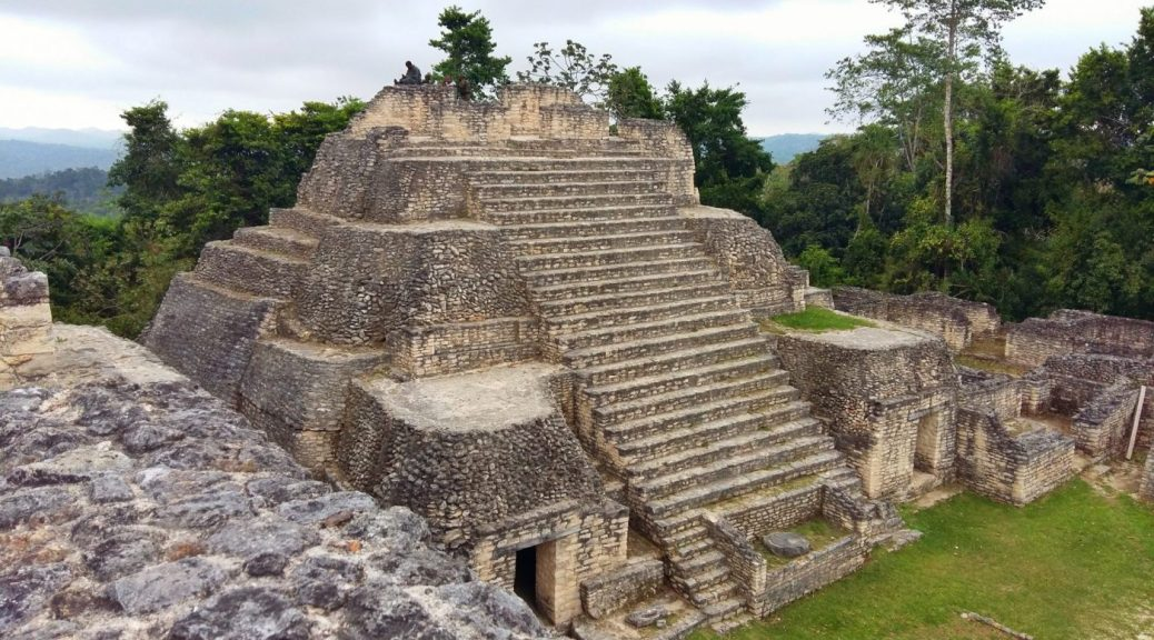 Caracol Maya Ruins in the Mountain Pine Ridge Reserve near San Ignacio Belize