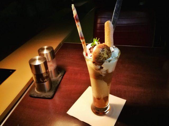 Coffee Cake Sundae Dessert - VIP Dinner at the Berlin TV Tower Restaurant
