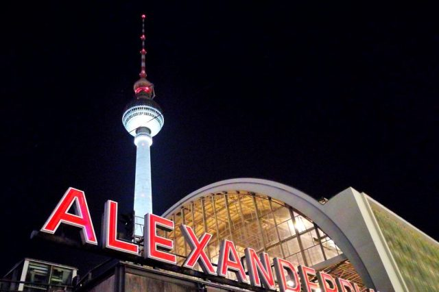 The Berlin TV Tower Alexanderplatz