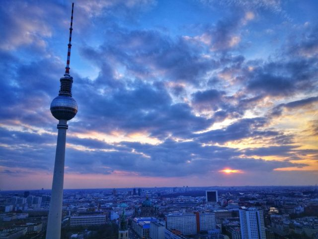 The Berlin TV Tower from the Park Inn Hotel