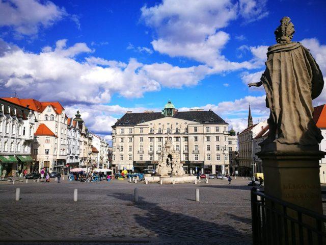 Vegetable Market Square in Brno Czech Republic