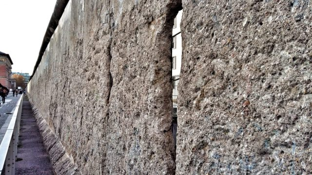 Visiting the Berlin Wall - Part of the original wall next to the Topography of Terror Museum