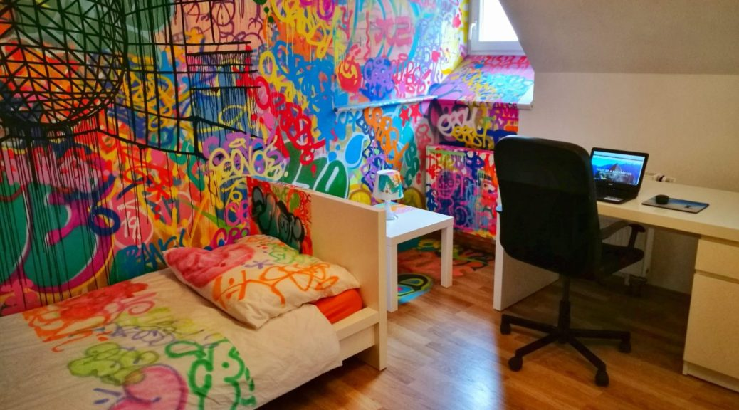 Workspace & Graffiti Room at Internesto Apartments Brno - Where to stay in Brno Czech Republic