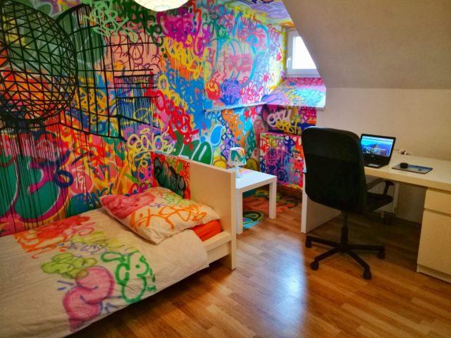 Workspace & Graffiti Room at Internesto Apartments Brno - Where to stay in Brno Czech Republic