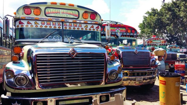 What to do in Antigua Guatemala - Transport in Antigua - Colourful Chicken Buses