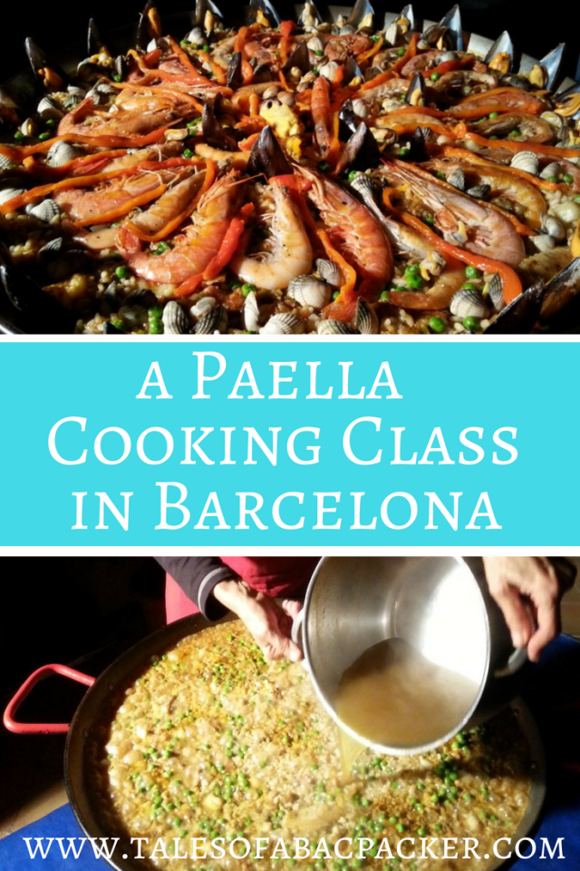 A paella cooking class in Barcelona Spain is the perfect way to sample authentic Spanish food - and take the recipe home to make it yourself! I joined Marta at her home cooking school in Barcelona to learn how to make paella, renowned for being one of the best cooking classes in Barcelona! #paella #cookingclass #barcelona #spain #catalonia #cookingschool #cookingclassesinbarcelona