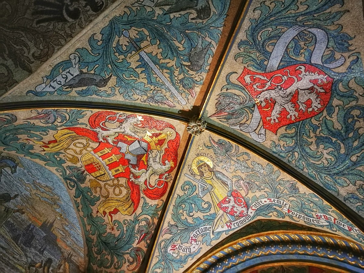 Beautiful Tiled Ceiling in the Old Town Hall - What to do in Prague in 2 Days - A Prague 2 Day Itinerary
