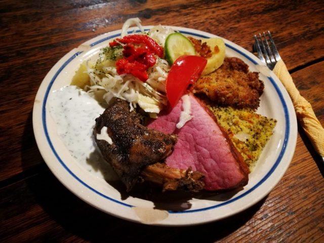 A tasty lunch at the 2 Marys Restaurant in Cesky Krumlov