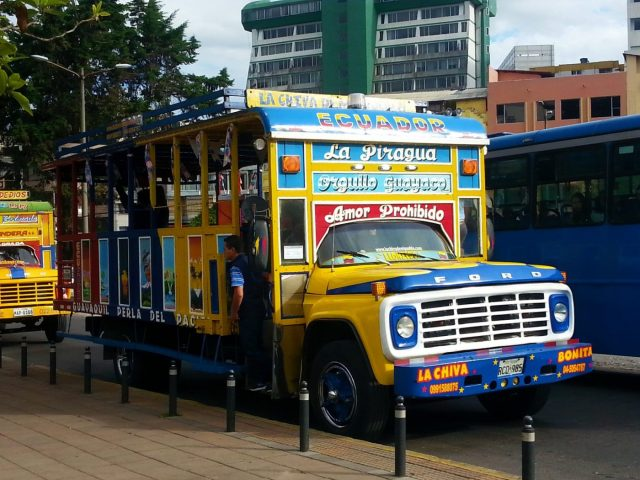 A Colourful Chiva Party Bus in Quito - Backpacking Ecuador Travel Guide
