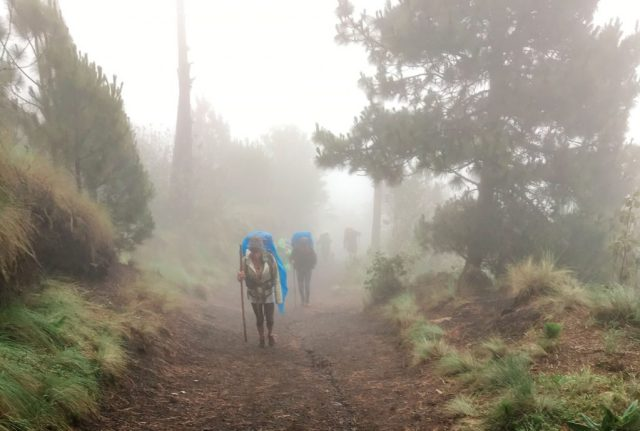 The Clouds Descend on the Acatenango Hike