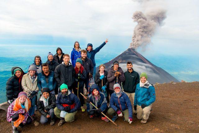 Our Group on the Acatenango Hike - Hiking Acatenango Volcano
